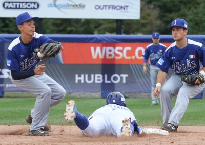 20170905 U-18 Baseball World Cup Angioi Paolini Italy vs Korea (James Mirabelli-WBSC)