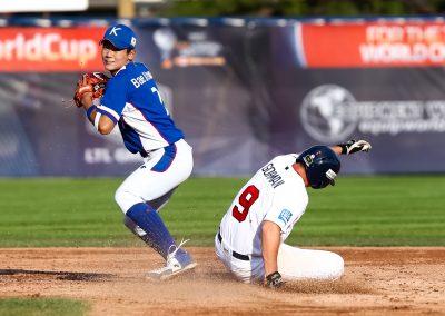 20170910 U-18 Baseball World Cup gold medal game Gorman USA Bae Ji Hwan Korea (James Mirabelli-WBSC)