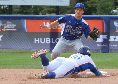 20170905 U-18 Baseball World Cup Paolini Italy Kim Jeong Woo Korea (James Mirabelli-WBSC)