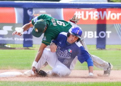 20170907 U-18 Baseball World Cup Flisi Italy Patel South Africa (James Mirabelli-WBSC)