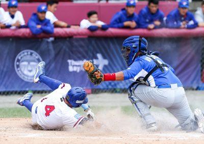 20170905 U-18 Baseball World Cup Tseng Han Yu Chinese Taipei Anthony Valdez Nicaragua (Christian J Stewart-WBSC)