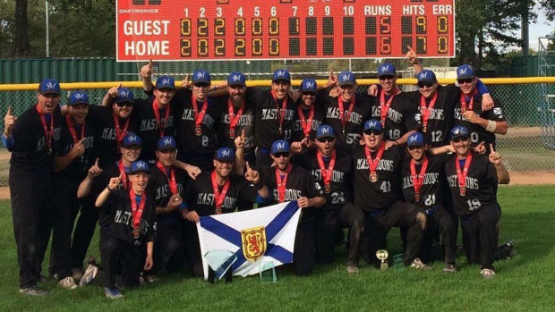 Nova Scotia team beats 5-time defending champs to win Canada's Men's National Softball title