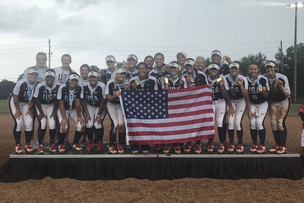 Home runs power USA to Gold at WBSC Junior Women's Softball World Championship