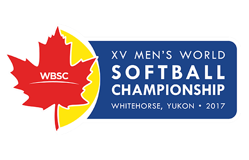 XV Men's Softball World Championship Logo
