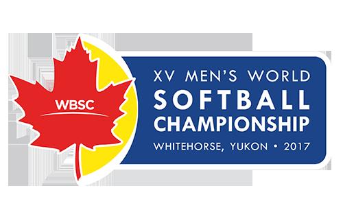 XV Men's Softball World Championship Logo