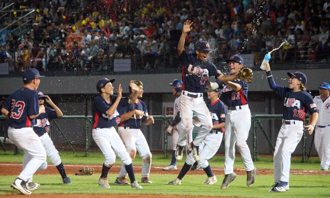 美國獲得U12少棒世界盃冠軍