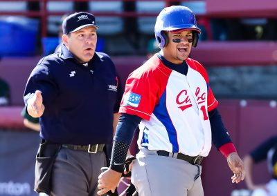 U-18 Baseball World Cup  Umpire Newsom USA  Alonso Cuba (Christian J Stewart-WBSC)