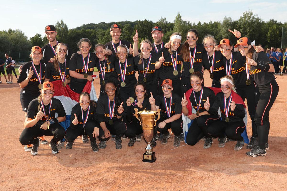 Holanda conquista el Campeonato de Softbol Femenino de  Europa Sub-16