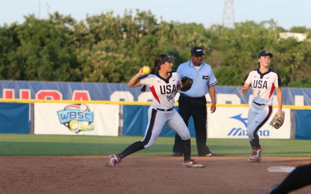 No. 2 USA remains undefeated after three days at the World Cup of Softball