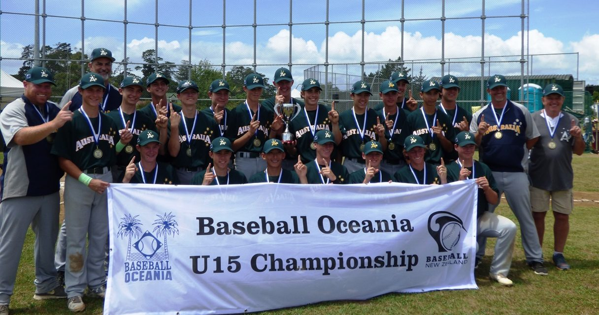 Australia sweeps the Oceania U-15 Baseball Championship