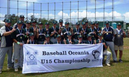 Australia barre en el Campeonato de Béisbol de Oceanía Sub-15