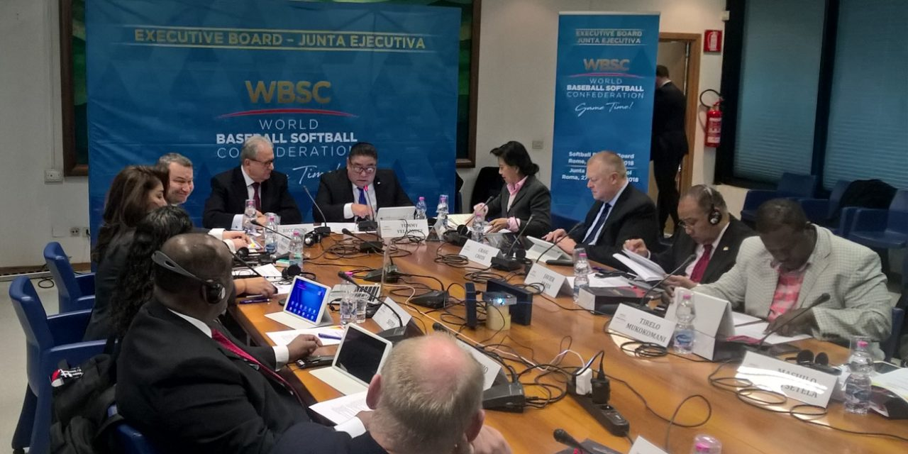 President Fraccari, Chairman Velazquez set pace of WBSC Softball Division Executive in Rome