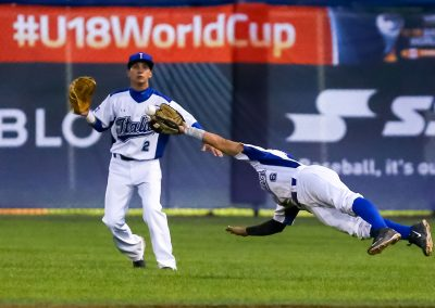 20170904 U-18 Baseball World Cup Paolini Italy diving catch (Christian J Stewart-WBSC)
