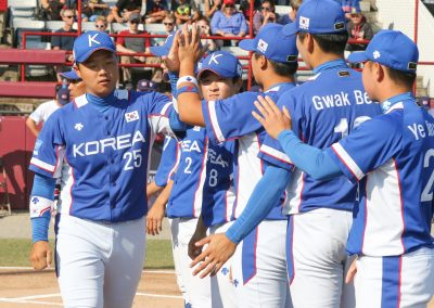 20170910 U-18 Baseball World Cup gold medal game Han Dong Hui Korea presentation (James Mirabelli-WBSC)