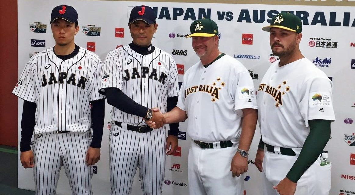 Baseball Australia, Japan name Game 1 pitchers for two-game series