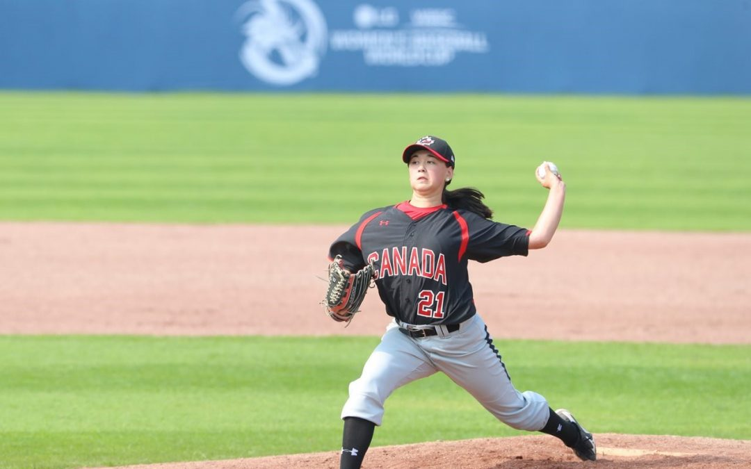 Canada pitcher Eccles becomes first female baseballer to play in West Coast League