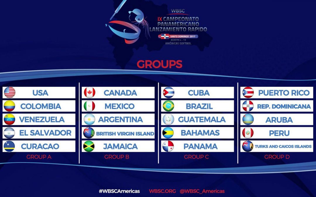 Pools announced for 2017 Women's Pan American Softball Championship