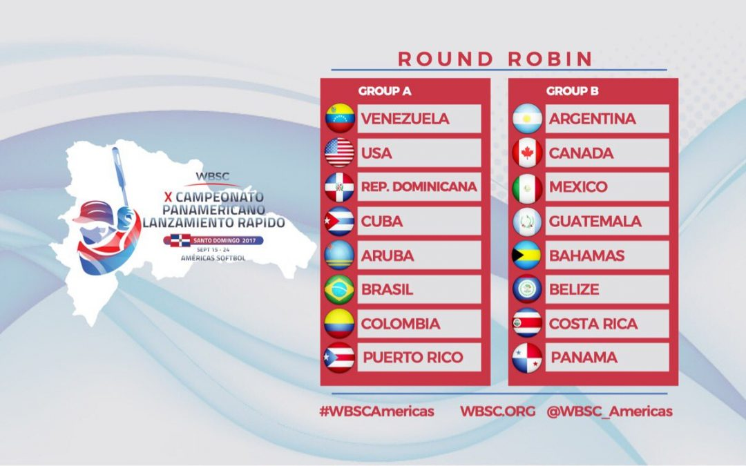 Pools announced for the 2017 Men's Softball Pan American Championship