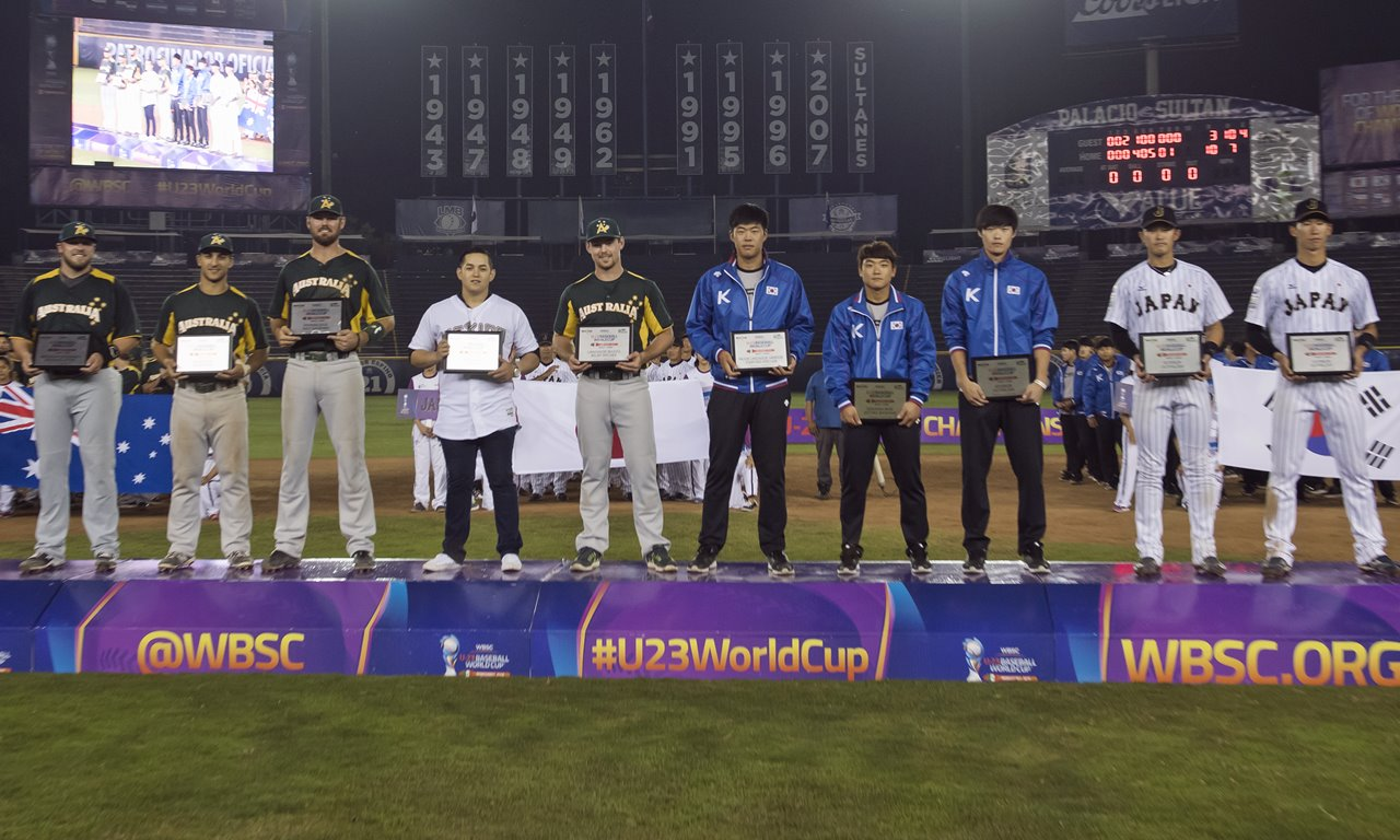 U-23棒球世界盃全明星隊來自5個國家隊球員 MVP為日本隊Yusuke Masago