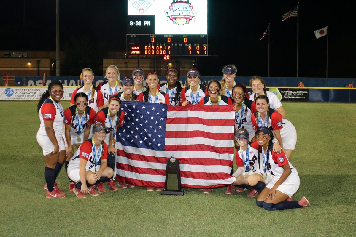 USA defeats Japan to win 15-nation WBSC Junior Women's Softball World Championship
