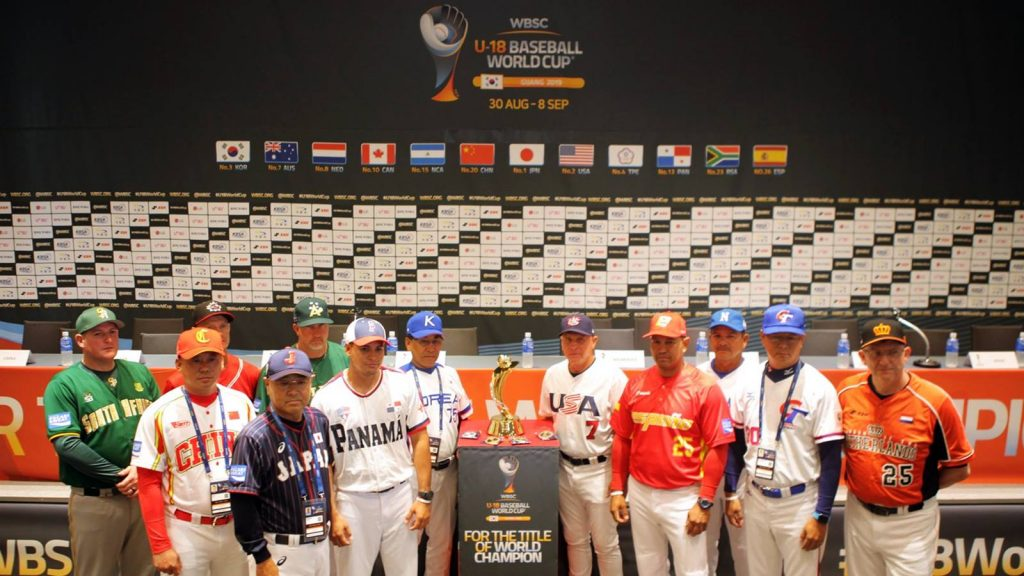 The 12 managers at the press conference