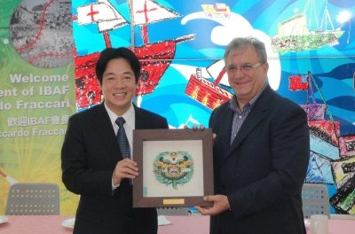 President Fraccari honored as Executive Advisor of Asian-Pacific Baseball Training Center Project