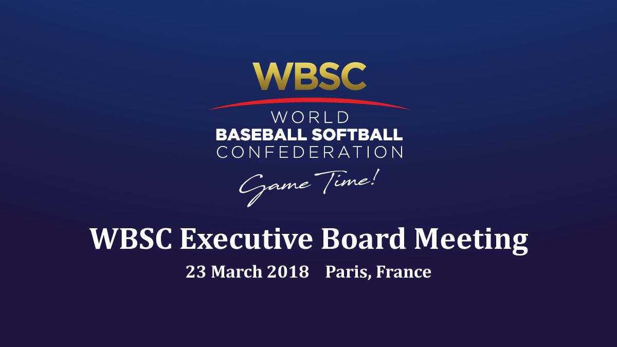 WBSC Executive Board Meeting Live On YouTube - WBSC