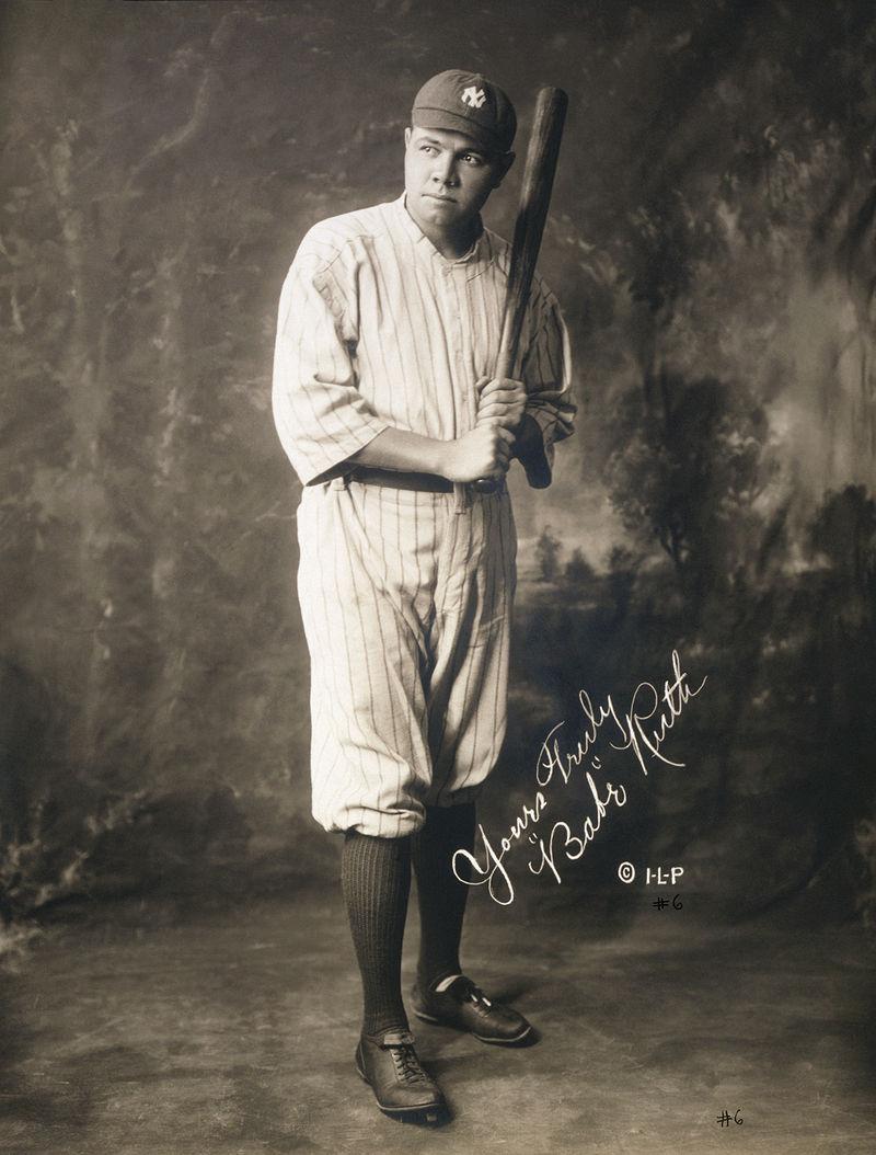 1920 yılında Babe Ruth