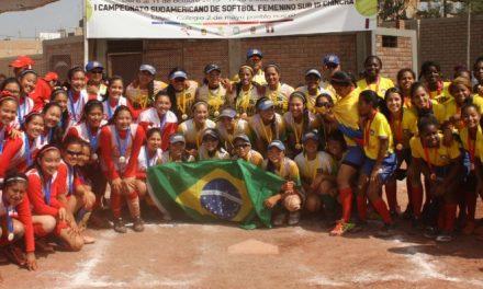 第一回U-15女子南アメリカソフトボール選手権 ブラジル優勝