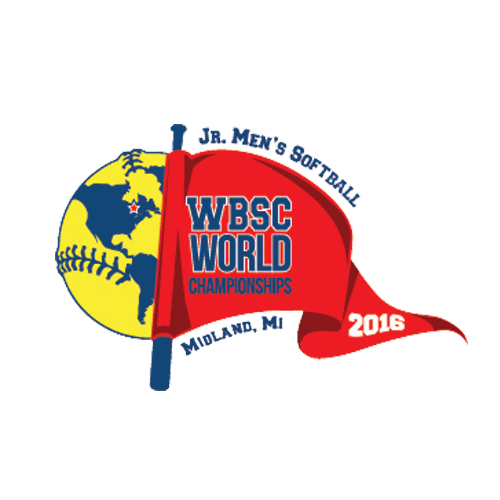 XI Jr. Men's Softball World Championship Logo