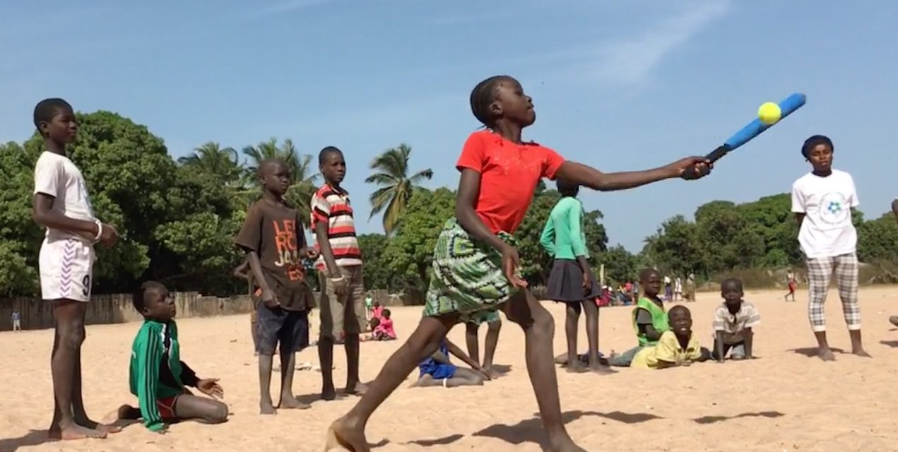 Baseball5 helps Run the Bases Program in Gambia