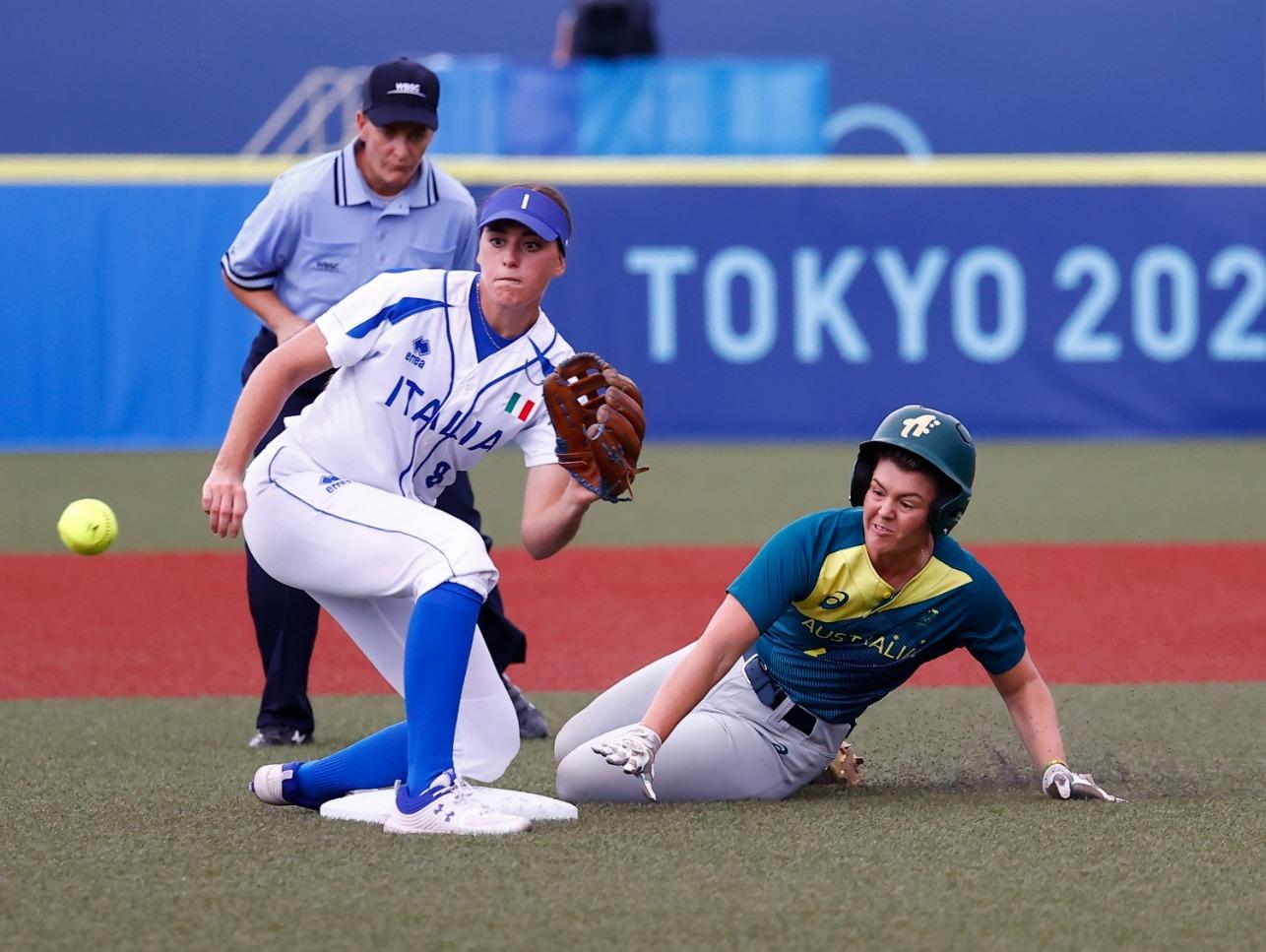 Italia Softball combatte ma non basta: l'Australia vince di misura