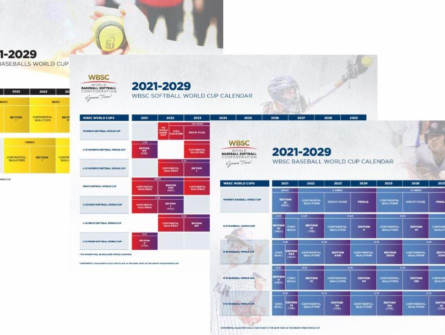 WBSC World Cup calendars