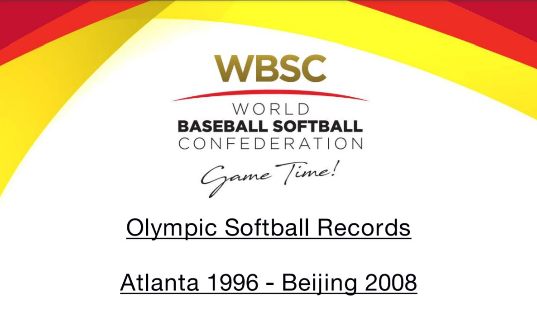 Olympic Softball Statistics