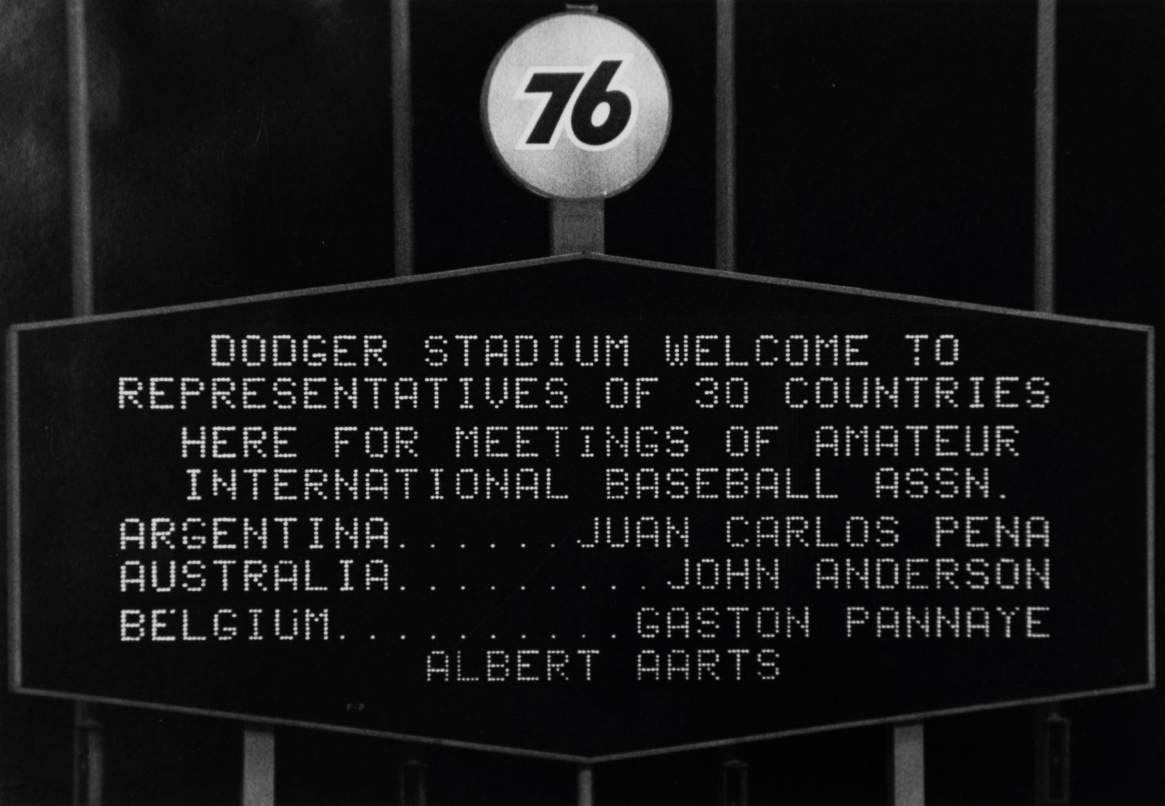 AINBA Meeting at Dodgers Stadium 1976