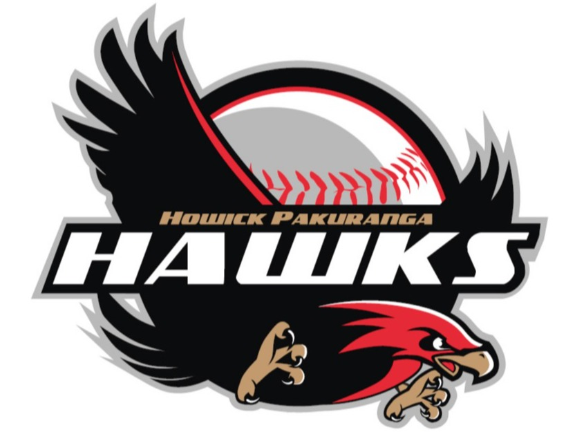 Howick Pakuranga Black Hawks flag