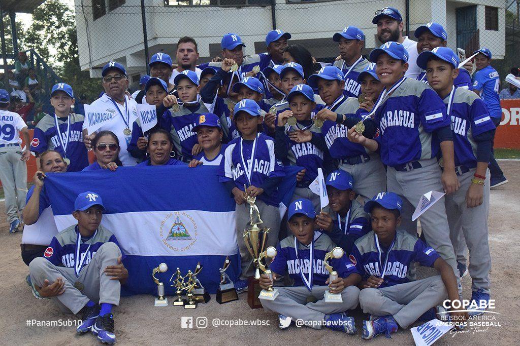 Nicaragua U-10 Baseball Pan Am Champion