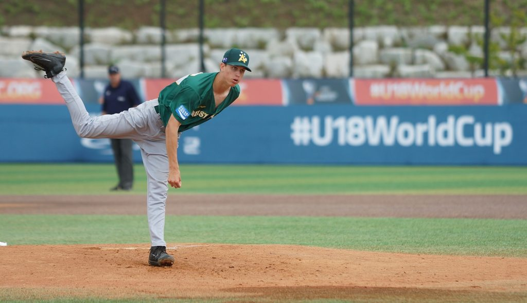 Pitchers led Australia to the bronze medal game
