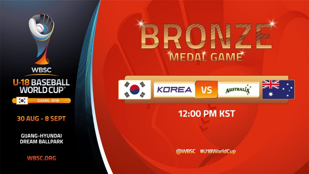 Australia will face Korea in the third-place final