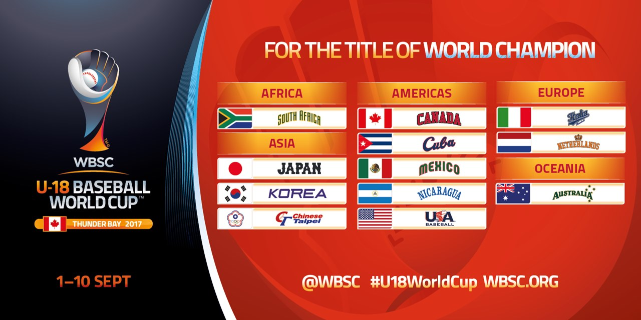 By Continent - U-18 Baseball World Cup 2017 web