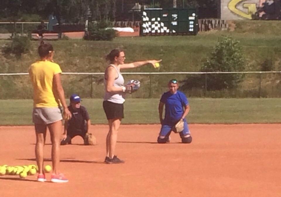 WBSC envoy coach on the field in Ukraine